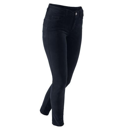 "Liu Jo Jeans  Bottom Up Velvet trousers The five-pocket jeans for a shapely rear – ""Bottom up"" jeans by Liu Jo Jeans, Italy."