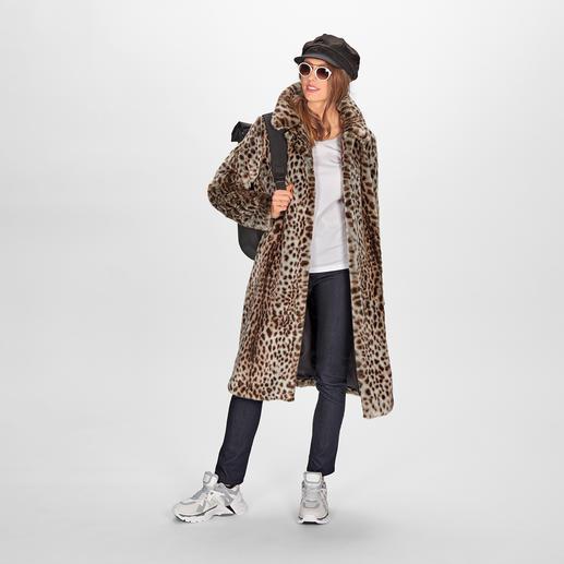 molliolli Cheetah Pattern Coat