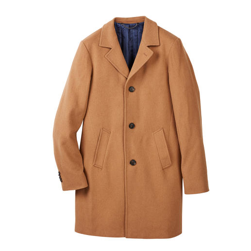 Camel Hair Coat Wonderfully lightweight, yet pleasantly warm coat made of rare camel hair.
