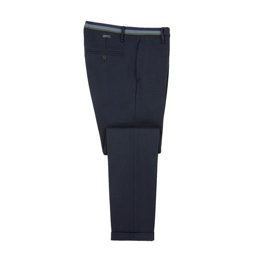 Alberto Jersey Business Trousers Sophisticated cloth look. On-trend slim fit. And the comfort of leisurewear. By Alberto.