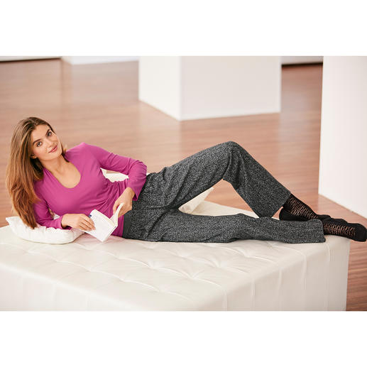 Michèle Salt & Pepper Trousers Comfortable on the sofa. Ideal for work. Elegant in the evening. And always in perfect shape.