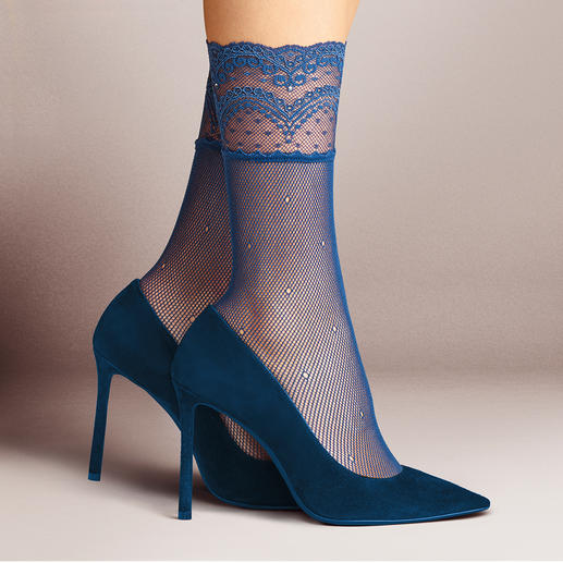 Falke Lace Socks In vogue: Embellished nylon socks. Our favourites: These ones from German hosiery specialists, Falke.