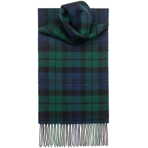 Lochcarron Tartan Scarf Original Thompson Camel Modern pattern. Pure lambs wool. Made in Scotland by Lochcarron.