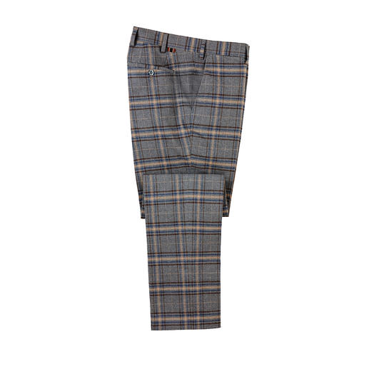 DAKS Check Trousers As stylish as cloth trousers. Wonderfully warm like woollen trousers. By DAKS/London.