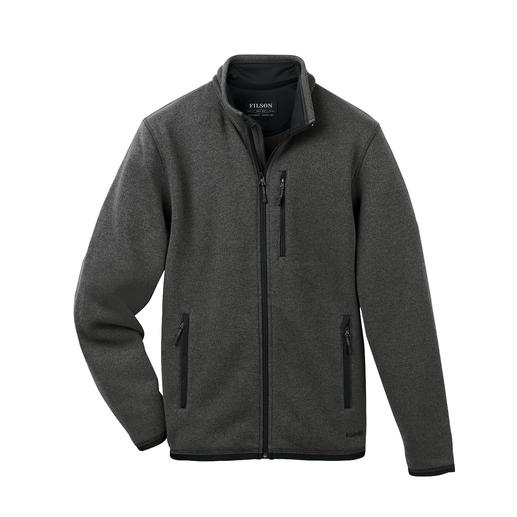 Filson Polartech® Knitted Jacket Classic, elegant knitted look on the outside. A lightweight and gently warming Polartech® fleece on the inside.
