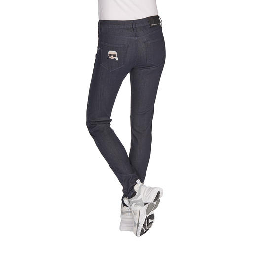 Karl Lagerfeld Raw Denim Jeans Clean Raw Denim look, but with supple comfort and uncomplicated care. By Karl Lagerfeld.
