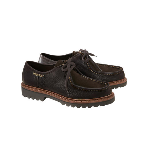 Mephisto Double-stitched Lace-up Shoes Traditionally double-stitched. Water repellent. Unbelievably robust. And very rare. By Mephisto.