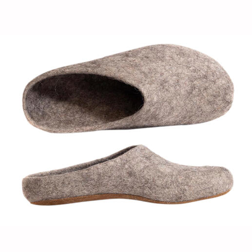Magicfelt Alpaca Wool Slippers - A rare find: Slippers made of wonderfully warm, pleasantly temperature-regulating alpaca wool.