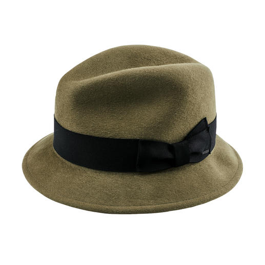 Classic Trilby Warm, windproof, water-repellent: The luxury version of felted wool hats. Made by Bollmann Hat Company.