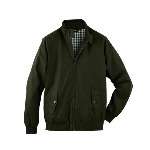 Harrington Waxed Jacket Cult classic Harrington jacket – now made of weatherproof waxed cotton.