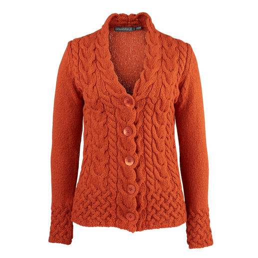 Irelands Eye Cable-Knit Cardigan Soft and warm. Nice and snug thanks to the cashmere wool. The original Irish cable-knit cardigan is timeless.