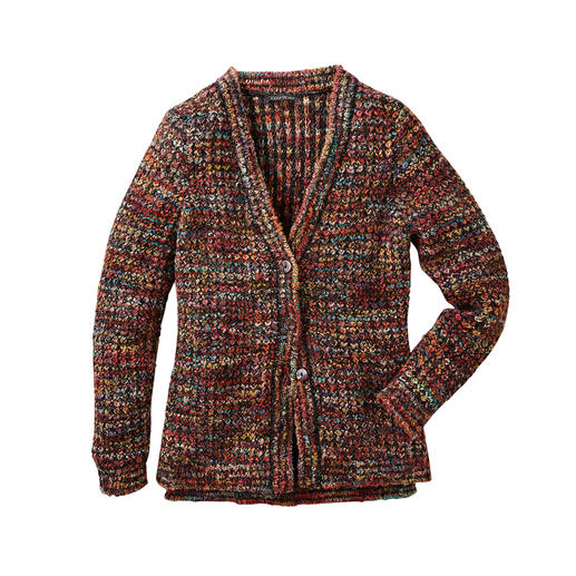 Kero Design Hand-knitted Jacket Multicolour - Hand-dyed and hand-knitted multicoloured cardigan that goes with everything. By Kero Design, Peru.