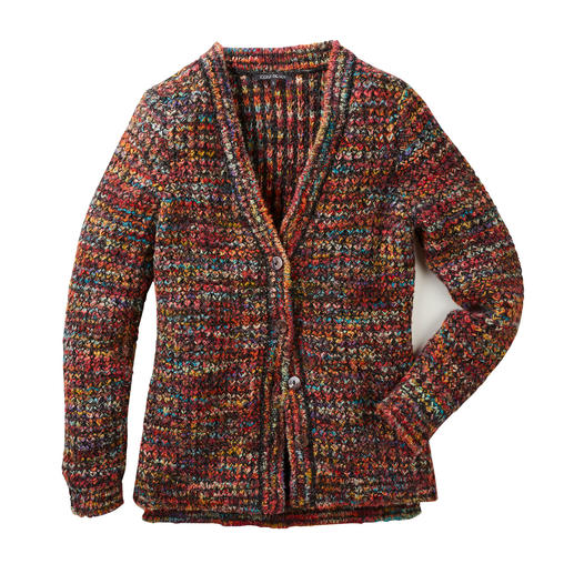 Kero Design Hand-knitted Jacket Multicolour - Hand-dyed and hand-knitted multicoloured cardigan that goes with every­thing. By Kero Design, Peru.