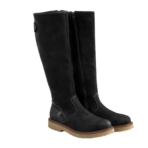 Werner Nubuck Boots Classic sporty look. Contemporary slim shape. Vegetable-tanned leather.
