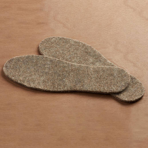 Alpaca Thermal Insoles Five times warmer than sheep's wool: The thermal insole made from rare alpaca wool.