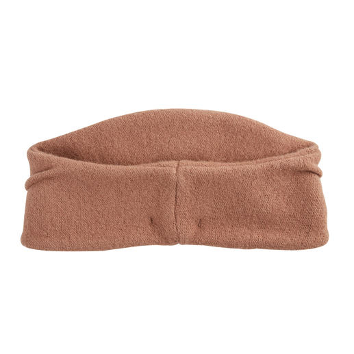 A headband almost as elegant as a hat. In currently fashionable, elegant shape. Permanently fixed ruffle. Made in France. By Céline Robert.
