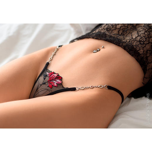 Lucky Cheeks Micro G-string A wonderfully personal gift: Luxurious micro string by Lucky Cheeks. Elaborately hand-made in Germany.