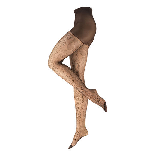 ELBEO Snake Pantyhose Trendy animal pattern from the oldest hosiery brand in the world. Snake tights from ELBEO.