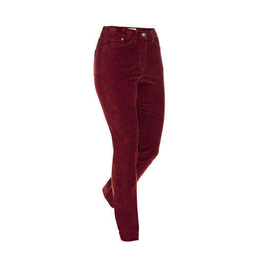 RAPHAELA-BY-BRAX Magic Waistband Corduroy Trousers Invisible reserve waistband width plus power-stretch effect. Made of soft corduroy. By RAPHAELA-BY-BRAX.