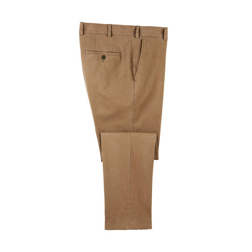 Extra warm and soft: Luxury chinos with the finest cashmere. Extra warm and soft: Luxury chinos with the finest cashmere.