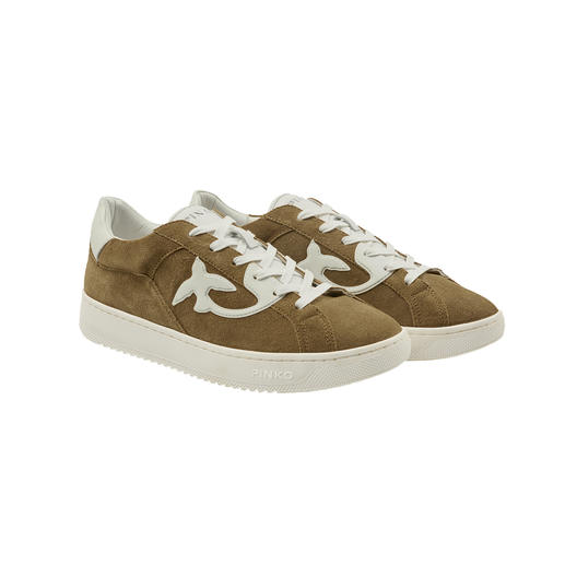 Pinko Retro Sneakers Narrow last. Higher sole. Fine suede. In three trend colours. By Pinko, Italy.