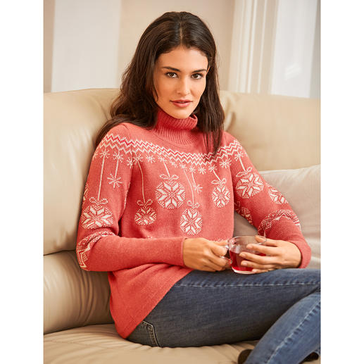 Norwegian Christmas Pullover Wonderfully soft. Incredibly hard-wearing. Ingeniously knitted jacquard. Made of the finest baby alpaca wool.