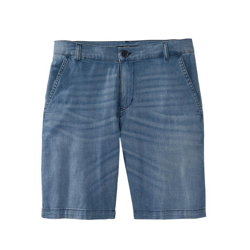 Karl Lagerfeld Denim Bermuda Shorts 7 oz. lightweight denim turns these Bermuda shorts into an airy summer must-have. By Karl Lagerfeld.