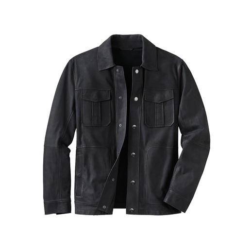 Karl Lagerfeld Lambskin Nappa Jacket Made of soft lambskin leather without lining. Weighs only 700g (24.7 oz). By Karl Lagerfeld.