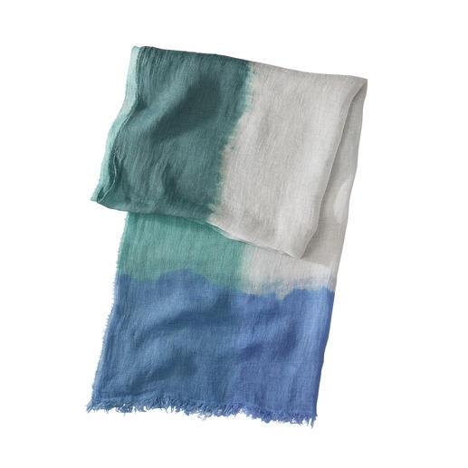 Ancini Dip-Dye Linen Scarf