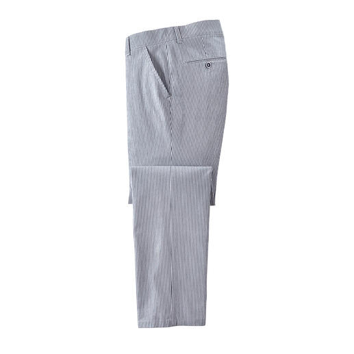 Seersucker Trousers - Featherlight. Cooling. Non-iron. Seersucker trousers are ideal in summer.