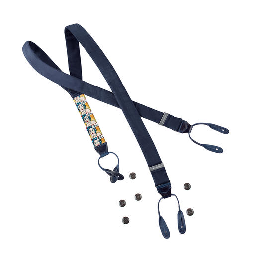 Albert Thurston Bamboo Braces, Denim blue Braces that remain cool: Made of lightweight, breathable bamboo fibres.
