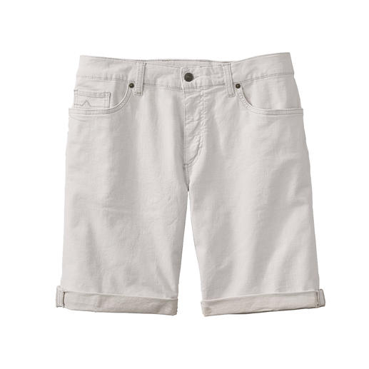 Alberto Linen Denim Shorts Airier than others: White denim shorts, made from linen denim.