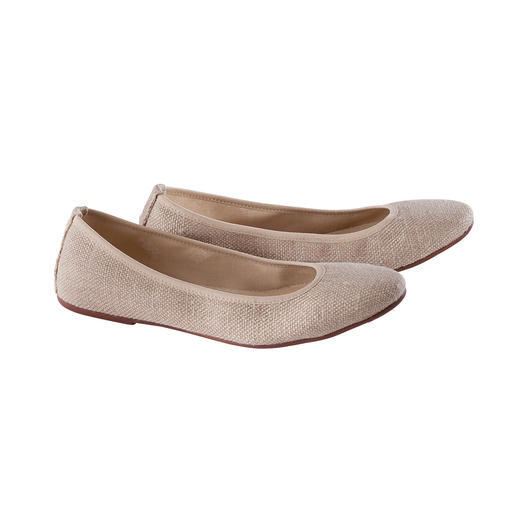 Risorse Future Hemp Ballerina Flats Ballerina flats made of hemp: Fashionable, ecological, durable and vegan. Made in Italy by Risorse Future.
