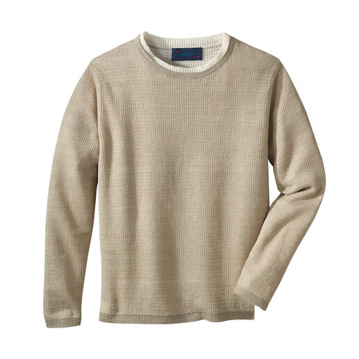 Carbery Linen Climate Control Pullover Doubly airy: Knitwear made of pure linen with supplementary ventilating structure.