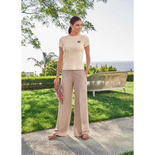 TWINSET linen mix pants