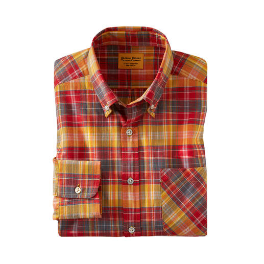 OMTC Checked Madras Shirt The original Madras shirt – traditionally woven by hand in India. By OMTC.