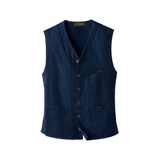 Hollington Lightweight Denim Indestructible design. The genuine Patric Hollington waistcoat.