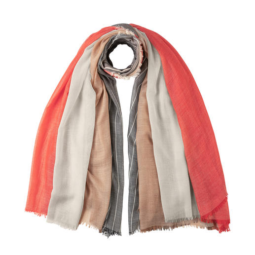 Johnstons Four-way Cashmere Scarf The creative designer piece by Johnstons of Elgin, since 1797.