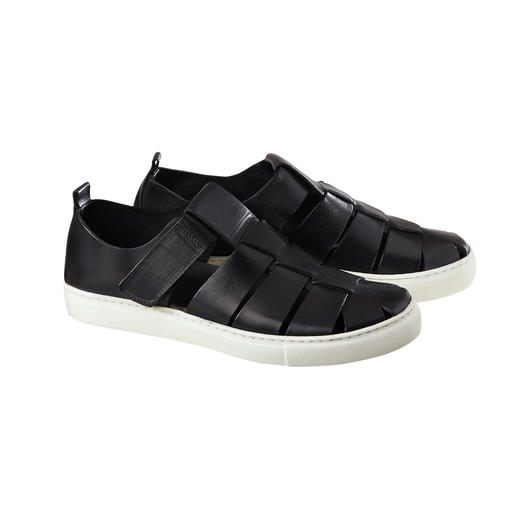 Sneaker Sandals Airy sandal style. Comfortable sneaker sole. And top Italian quality. Modern sneaker sandals.