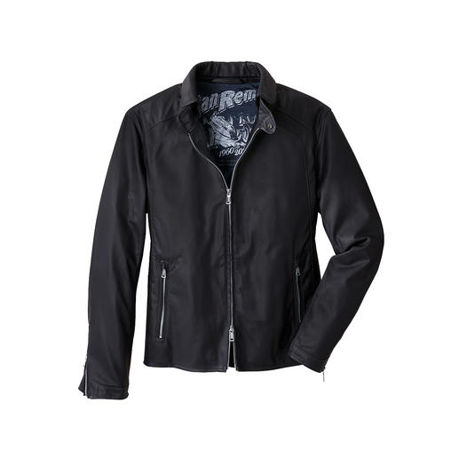 Heinz Bauer Limited Edition Leather Blouson Jacket Much lighter and much airier than most leather jackets. And yet extremely hard-wearing.