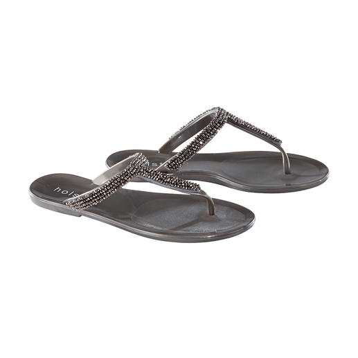 holster Rhinestone Sandals From beach to bar: The glamorous beach sandals by trendy label holster, Australia.