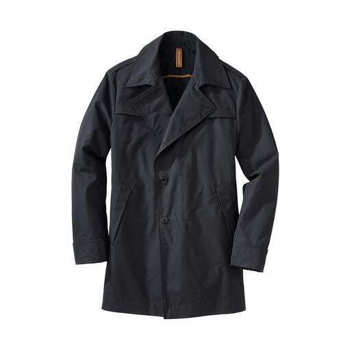 Finally a stylish all-weather coat – practical when you are cycling and sophisticated for business. Finally a stylish all-weather coat – practical when you are cycling and sophisticated for business.