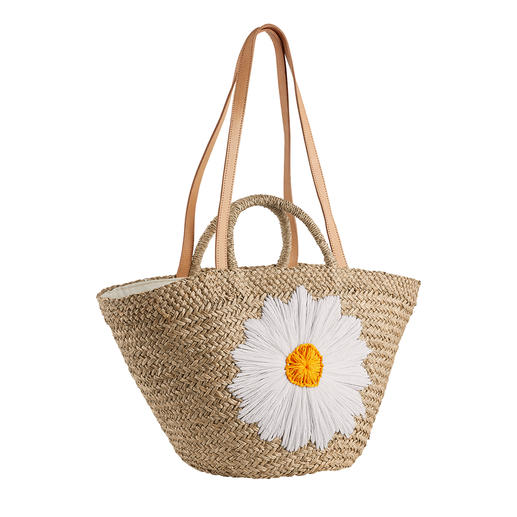 Bali-BAli® Raffia Bag Daisy Must-have fashionable straw bag: Soft and supple instead of stiff and bulky. By Bali-BAli®.