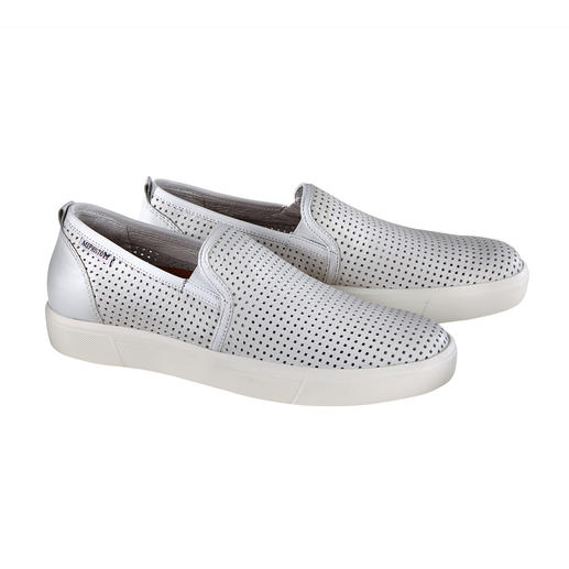 Mephisto Perforated Loafers Airy perforated loafers made of fine calfskin leather. By Mephisto/France.