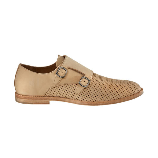 Perforated Double Monk Shoes