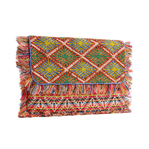 Smitten XL Clutch Mala Magnificent beadwork, traditionally made by hand. Each bag is unique.