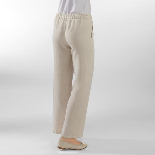 Comfortable Linen Pull-on Trousers