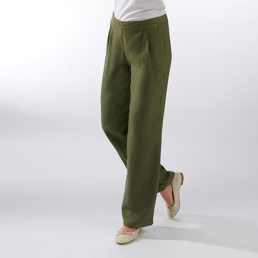 Comfortable Linen Pull-on Trousers Pure linen. Fashionable wide leg. Comfortable elasticated waistband. Great price.
