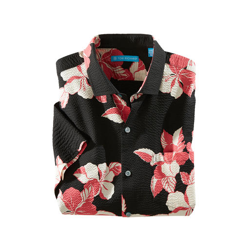 Aloha Hibiscus Shirt Looks cool. And keeps you refreshingly cool. Made in Hawaii by Tori Richard.