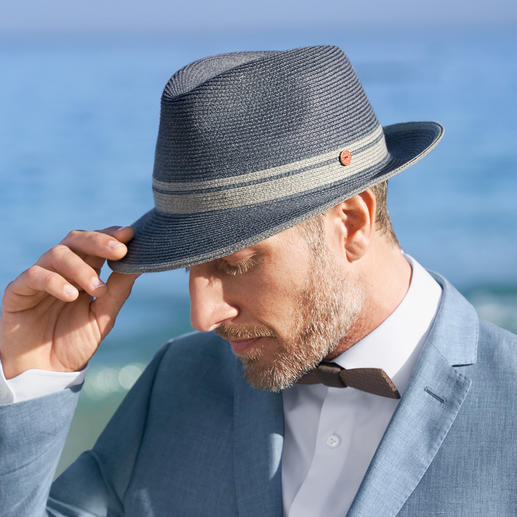 Mayser Unisex Fedora From the suitcase to the top of your head: Lightweight, crushable summer fedora for men and women.